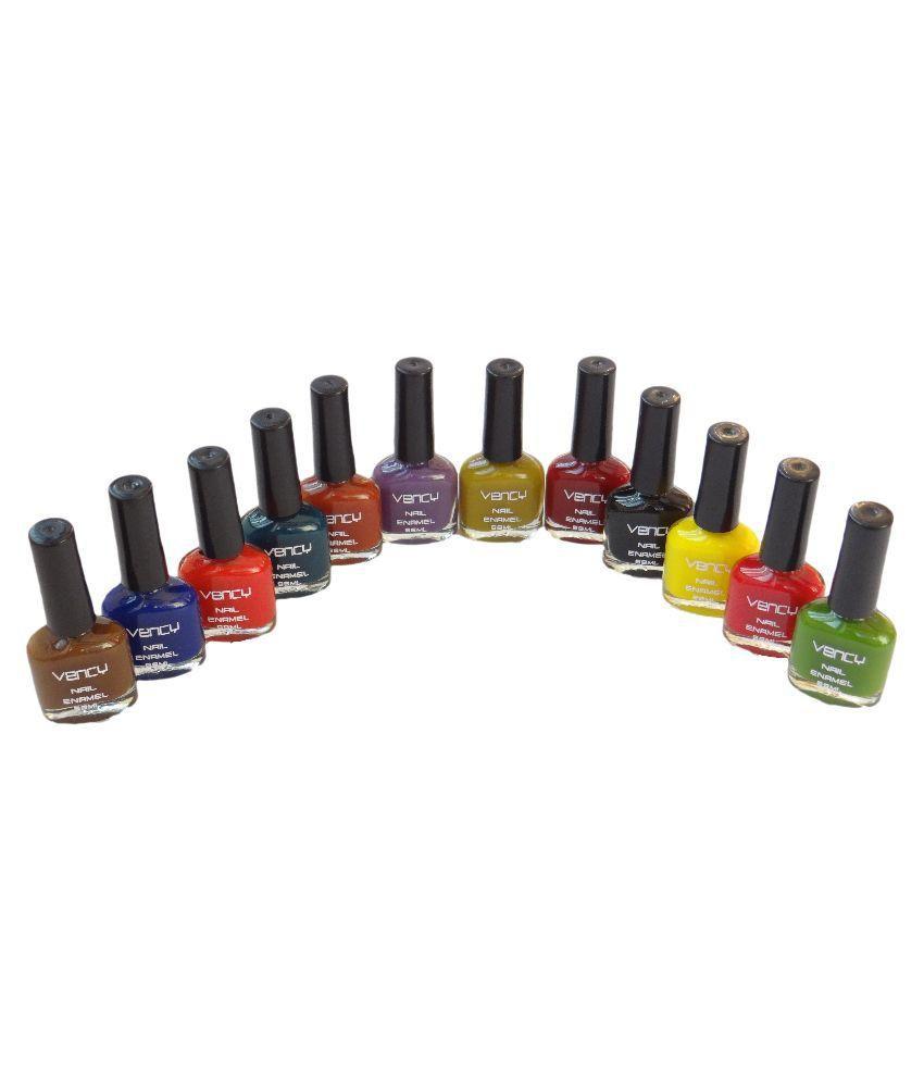 vency nail enamel Nail Polish Kit dark shade Glossy 600 gm: Buy ...