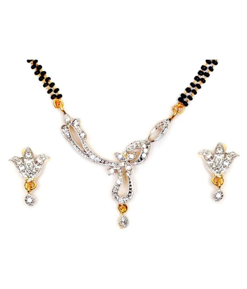 S K Fashion Silver Mangalsutra Set