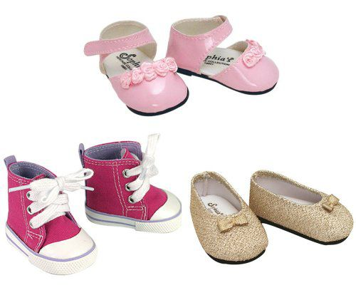 Pink Ankle Strap Dress Shoes Fits 18 inch American Girl Dolls