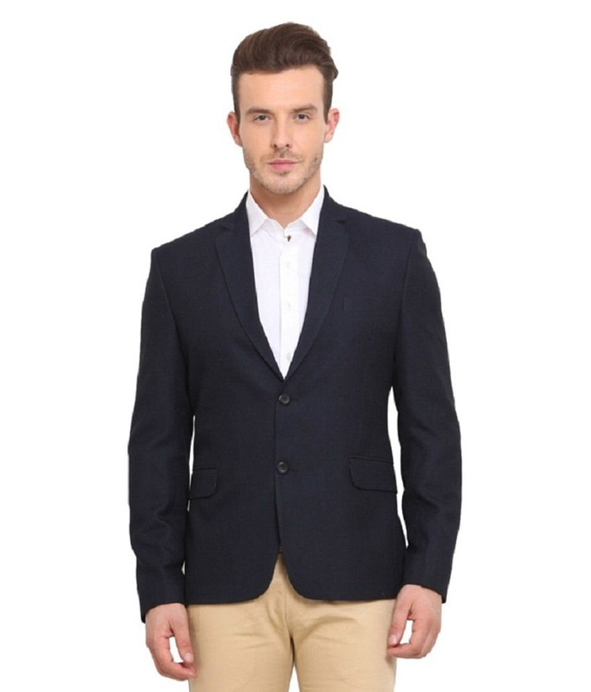 Vastra Innovation Black Solid Casual Tuxedo