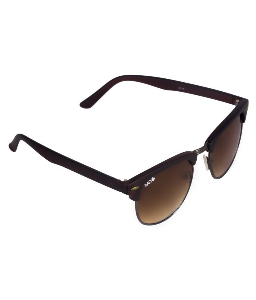 AAO+ Brown Clubmaster Sunglasses ( 9077 )