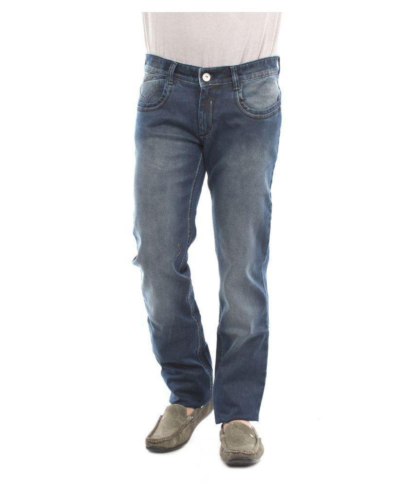 Thunder Blue Regular Fit Faded