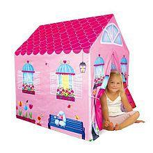 PTLF Cottage Playhouse Girl City House Kids Secret Garden Pink Play Tent