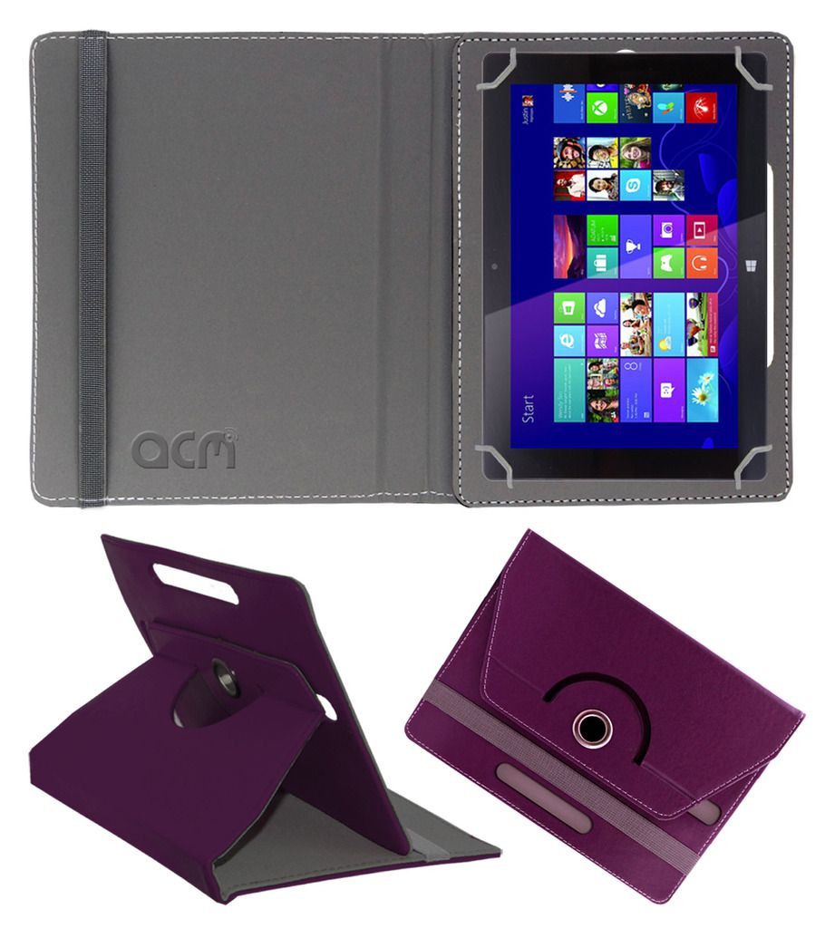 Fusion5 7 Inch Rotating Flip Case By ACM Purple
