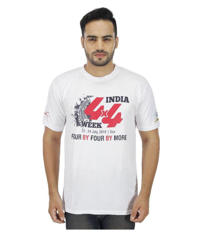 4x4 Week India White Round T-Shirt