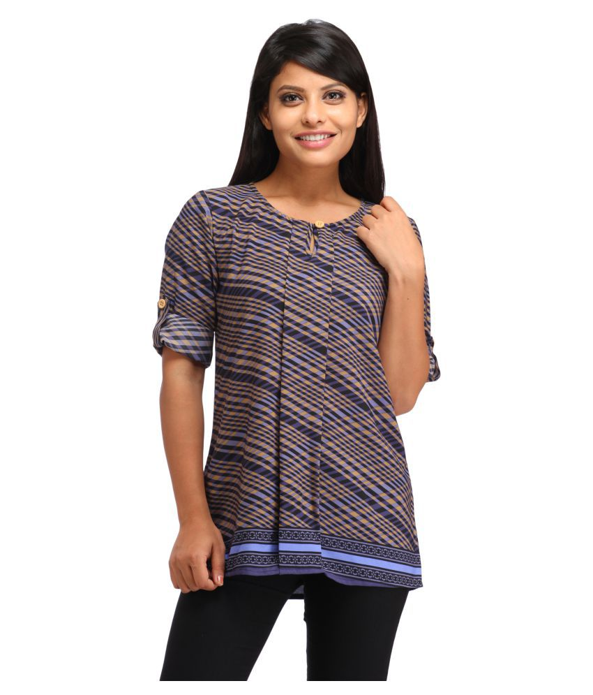 21737ccec64 Cottinfab Multi Color Rayon Tunics - Buy Cottinfab Multi Color Rayon Tunics  Online at Best Prices in India on Snapdeal