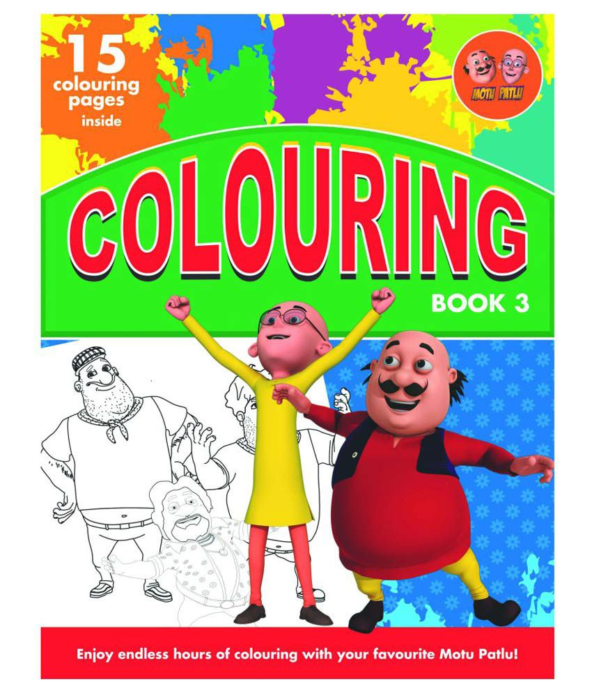 motu patlu colouring book 3 english buy motu patlu colouring