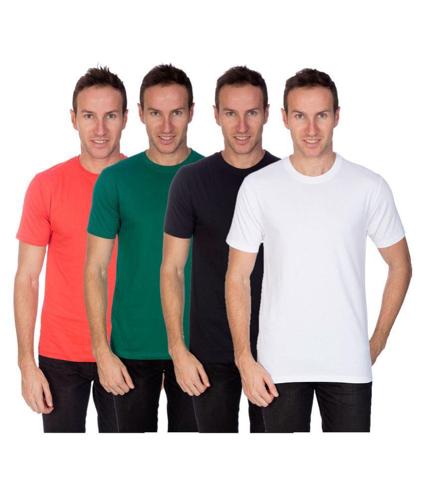 Artist Multi Round T-Shirt Pack of 4
