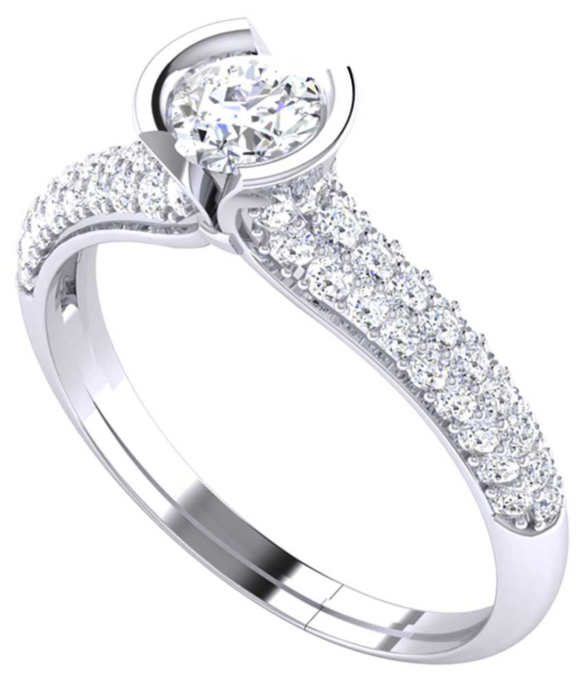 Kiara Jewellery 92.5 Silver Swarovski Ring
