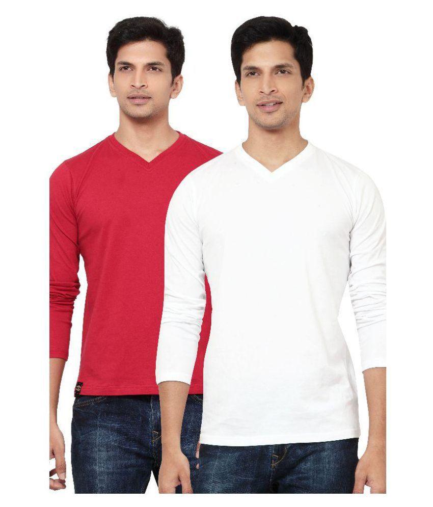 L.A. Seven Multi V-Neck T-Shirt Pack of 2
