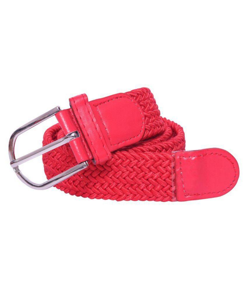 Oodi Pink Fabric Casual Belts