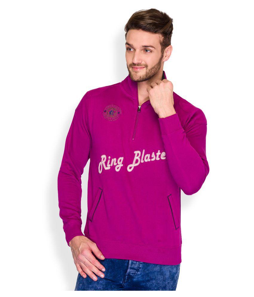Parx Purple High Neck T-Shirt