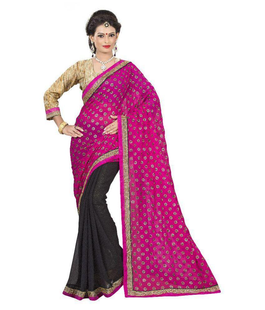 Aai Shree Khodiyar Art Multicoloured Georgette Saree
