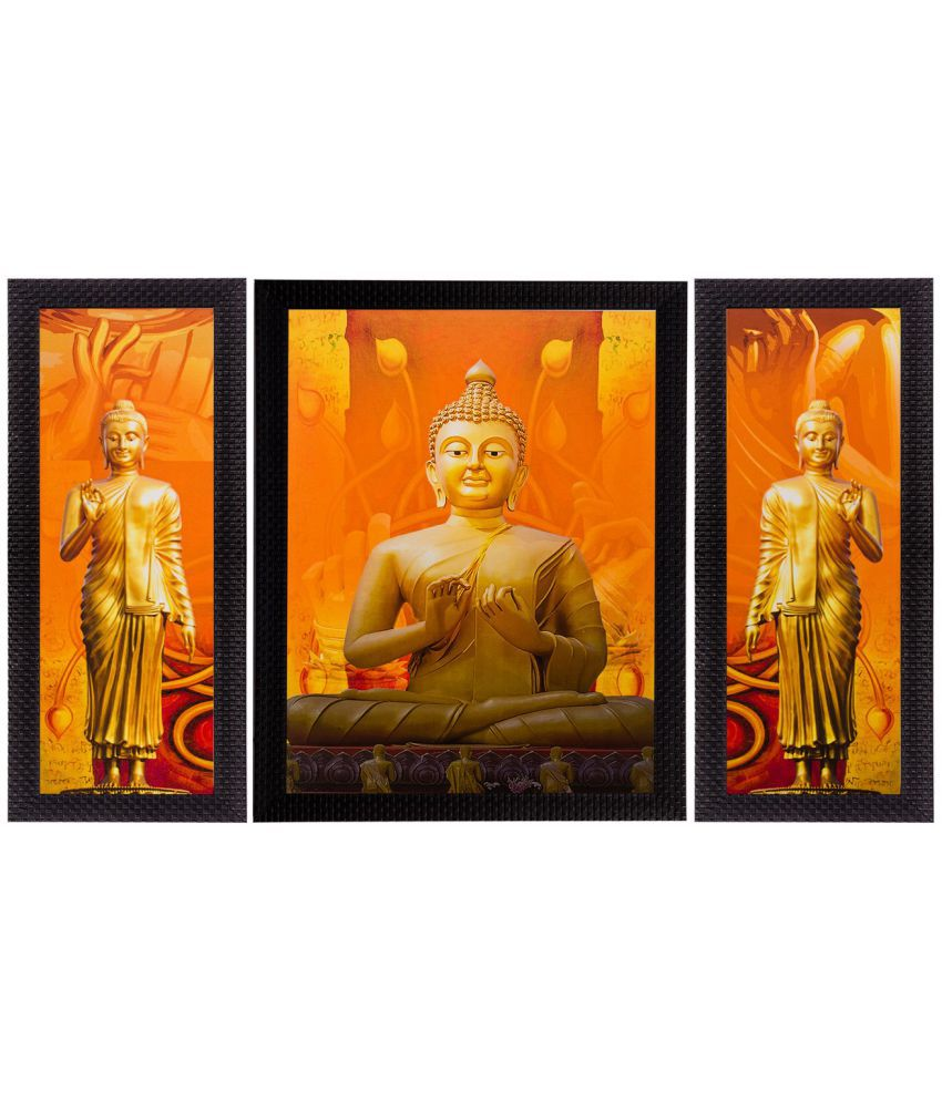 eCraftIndia Wood Art Prints With Frame 3 Combination