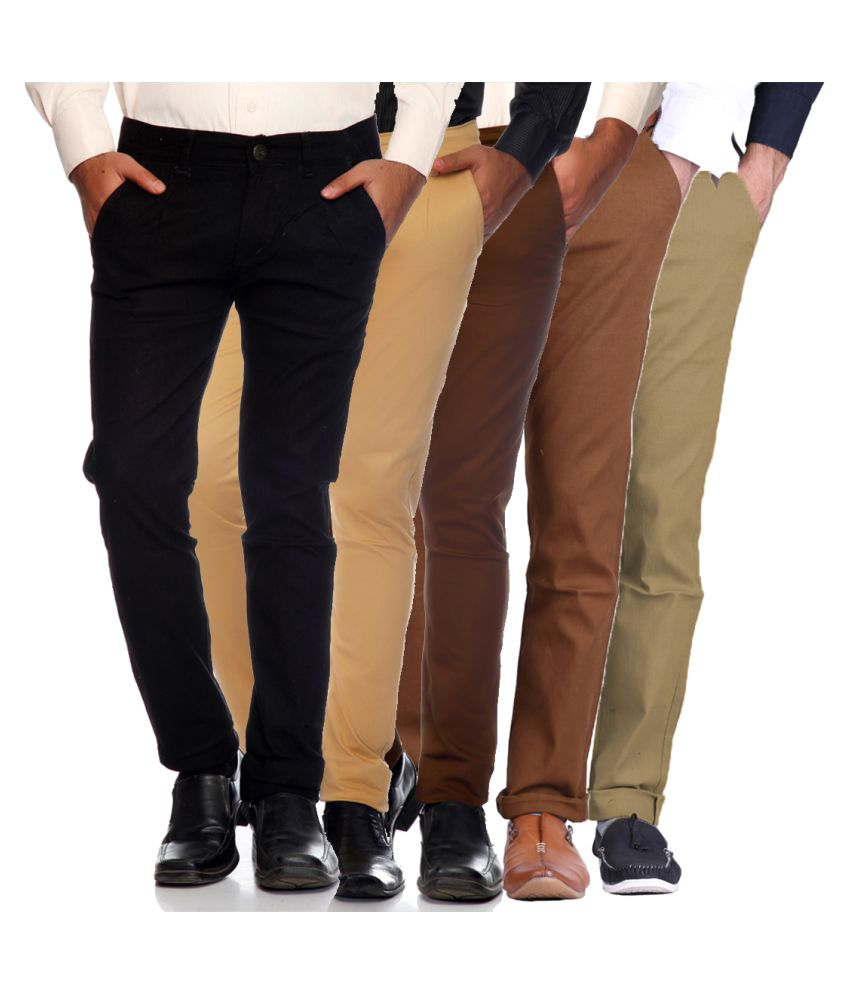 Van Galis Multicolored Slim Flat Trouser