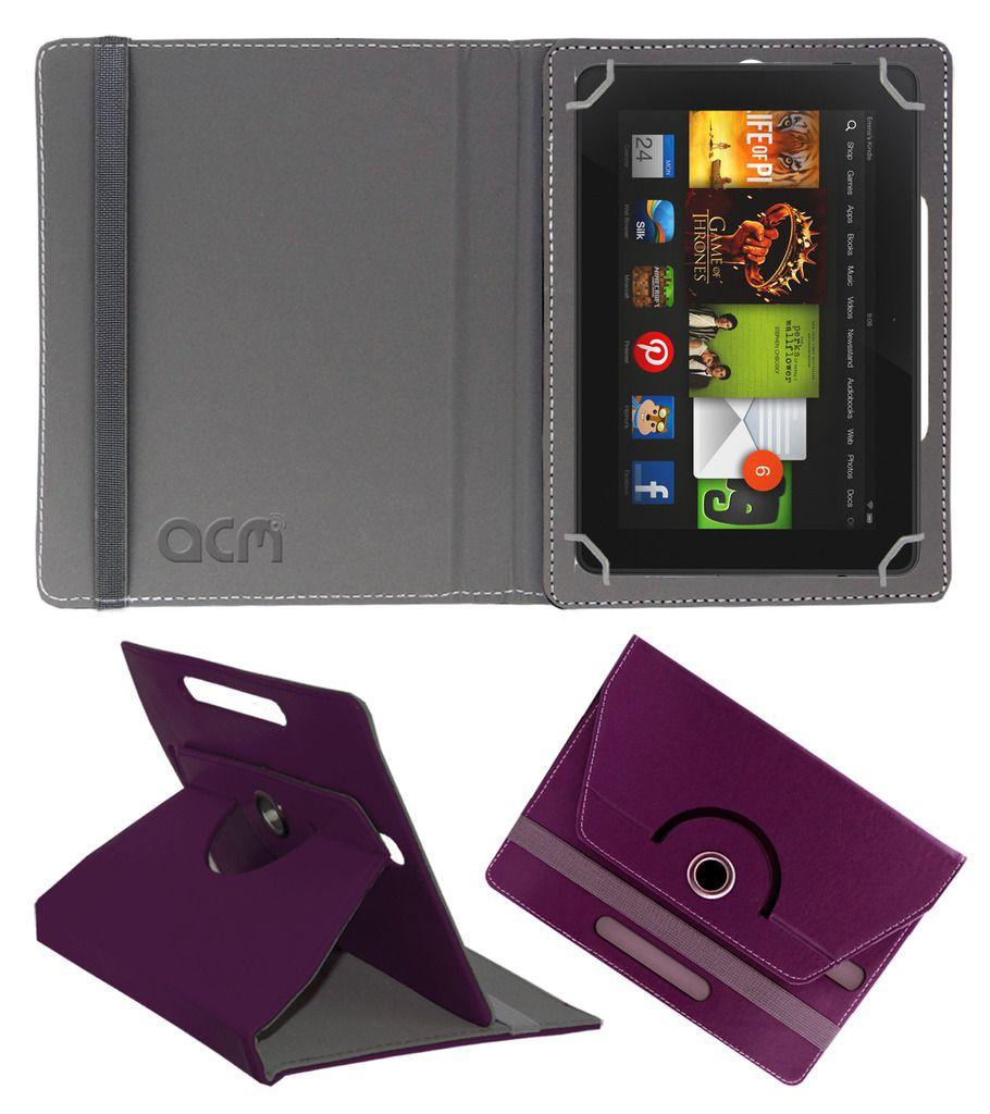 Kindle Fire HD Tablet Flip Cover By ACM Purple
