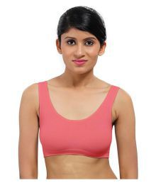 Bahucharaji Creation Baby Pink Cotton Lycra T-Shirt/ Seamless Bra