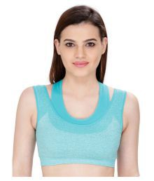 Bahucharaji Creation Turquoise Cotton Lycra Cami Bra