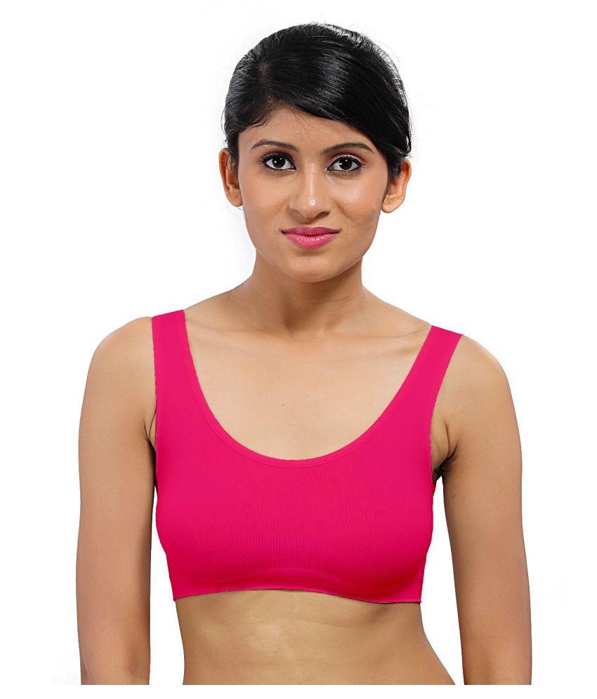 Bahucharaji Creation Pink Cotton Lycra Air Bra