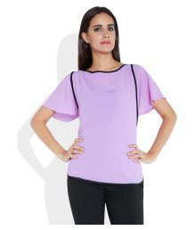 Park Avenue Woman Purple Polyester Regular Tops