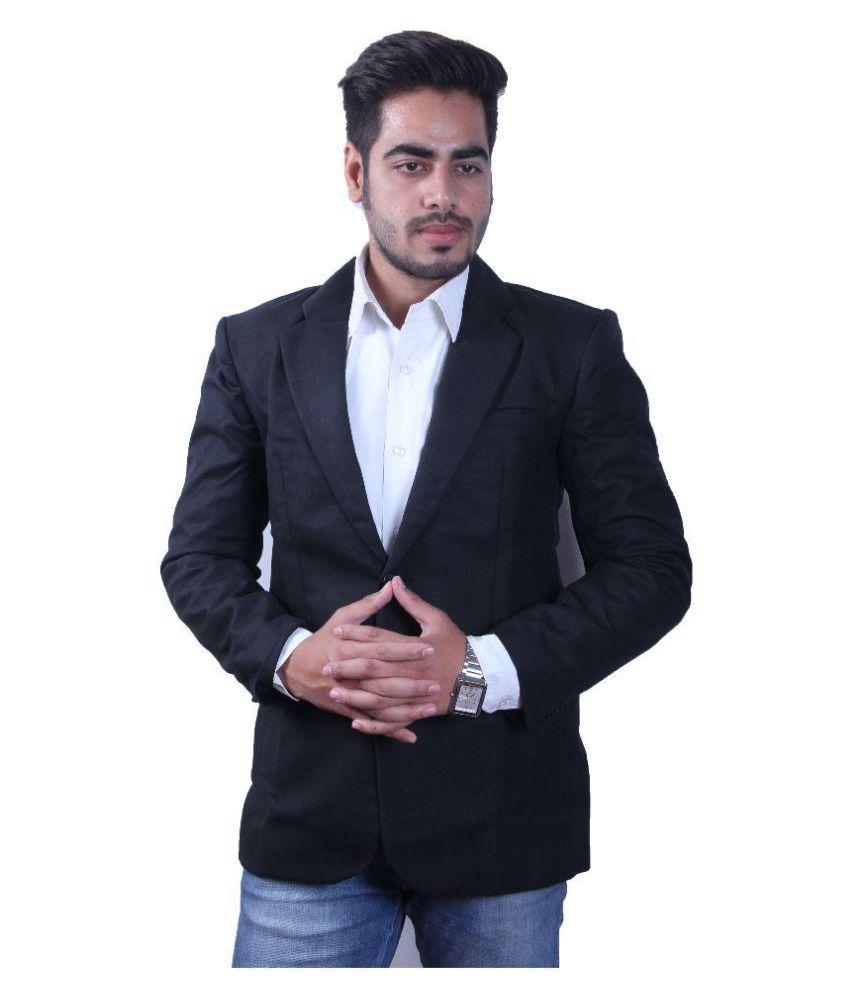 Intrend Black Solid Formal Blazer