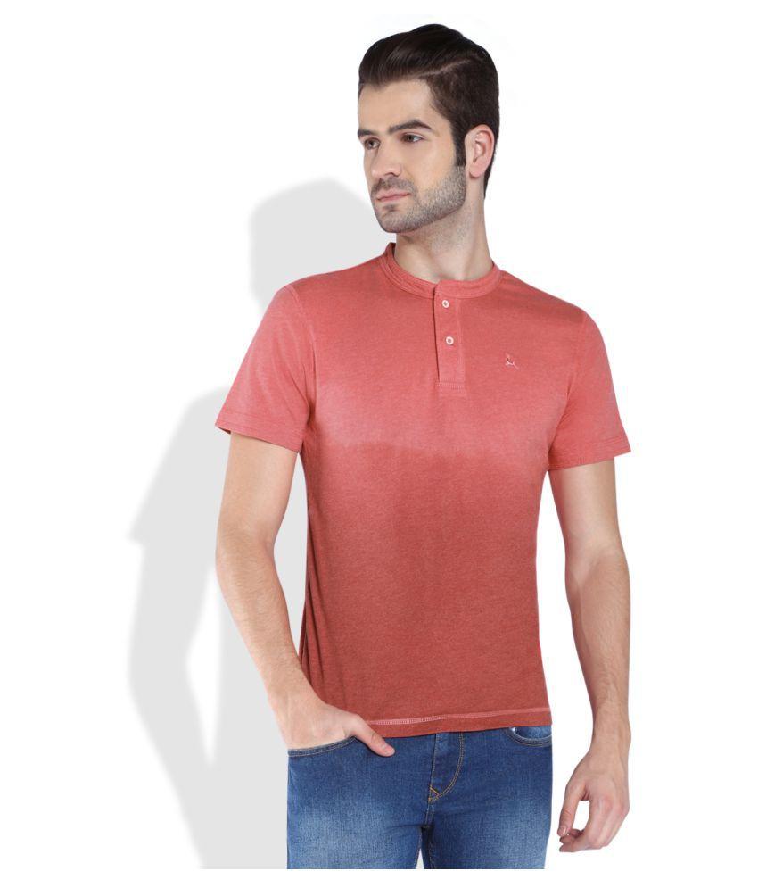 Parx Peach Henley T-Shirt