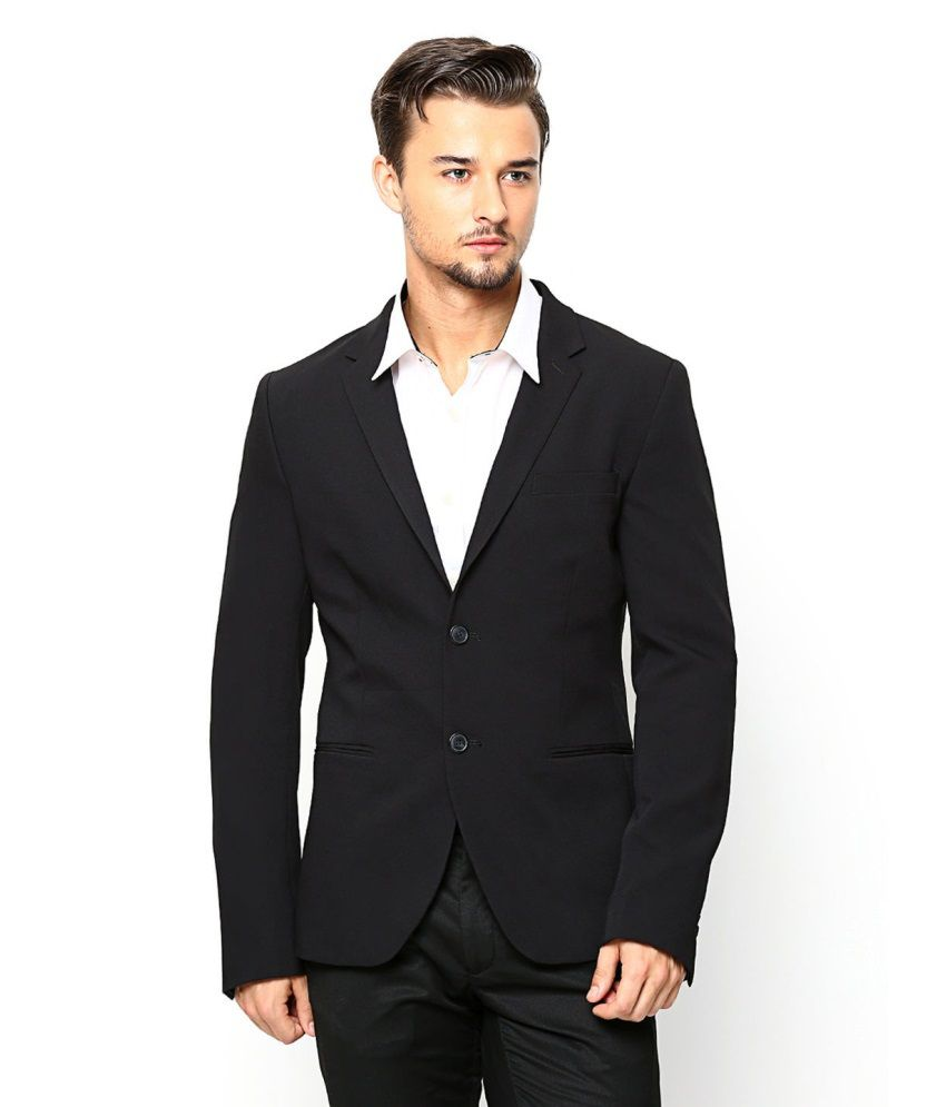 Vastra Innovation Black Solid Formal Tuxedo