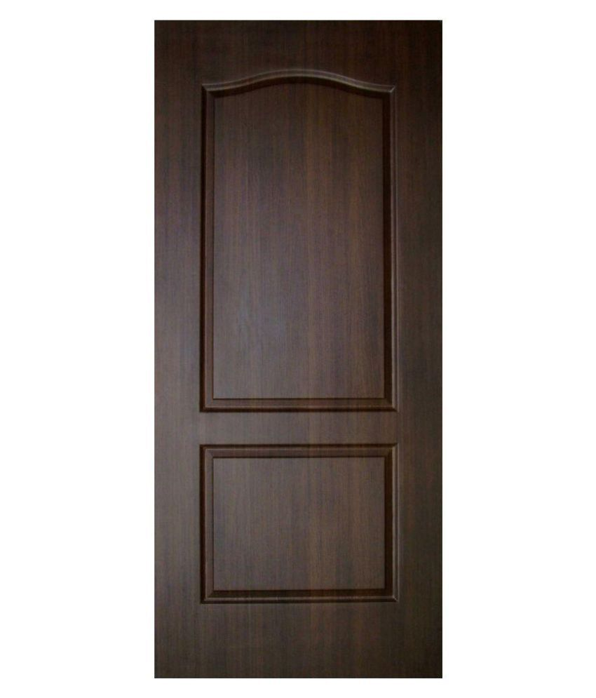 Buy veerprabhu doors brown panel moulded fiber door online for Moulded panel doors