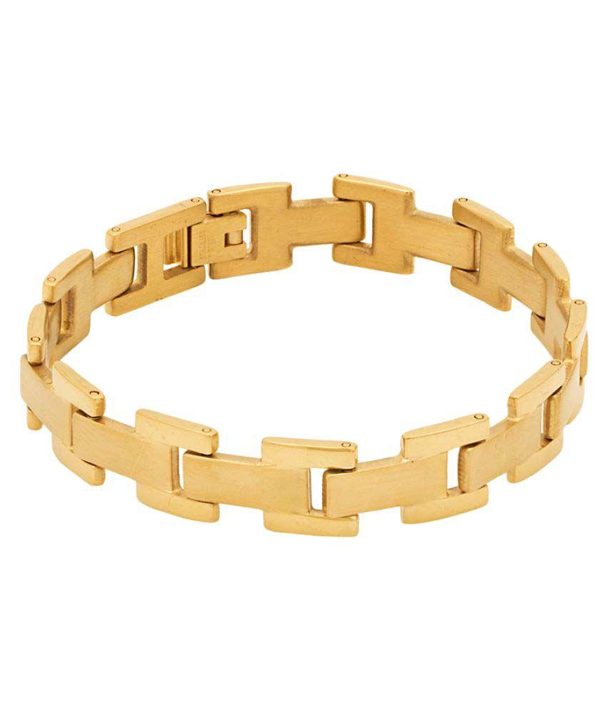 Voylla Designer Golden Bracelet for Men