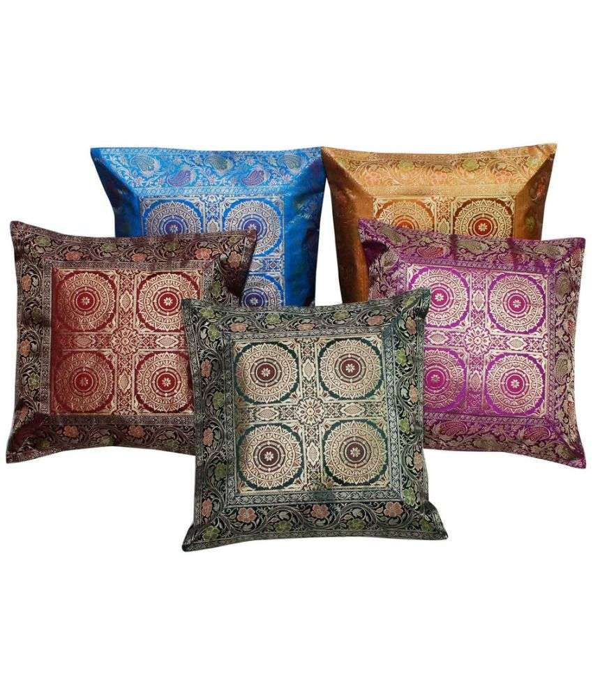 Gomati Ethnic Set of 5 Cotton Cushion Covers