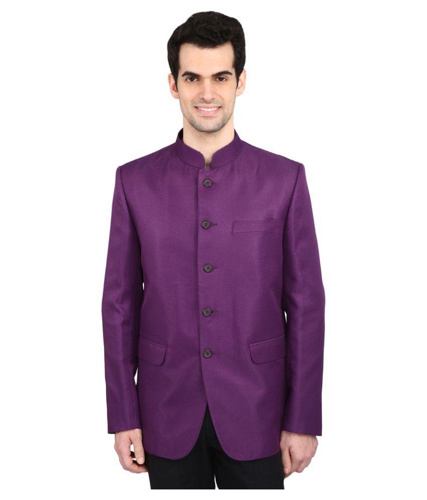 Indian Attire Purple Solid Party Tuxedo