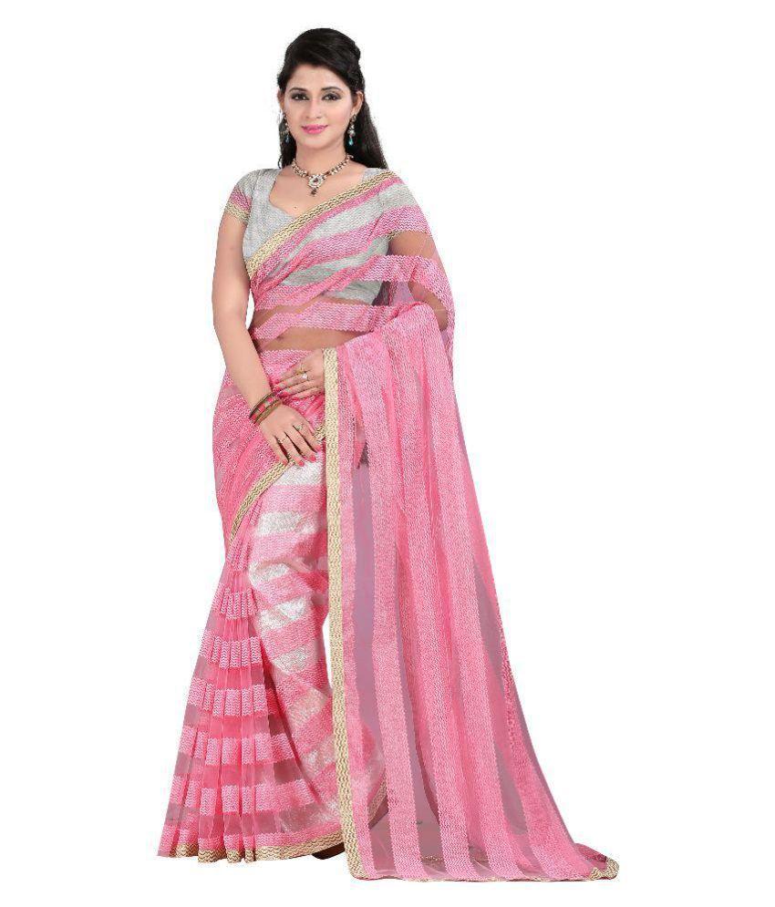V R Fashion Pink Mulberry Silk Saree