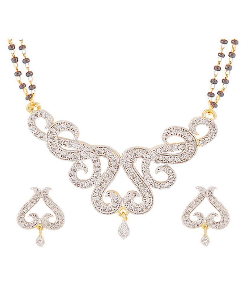Aditri Silver Mangalsutra Set