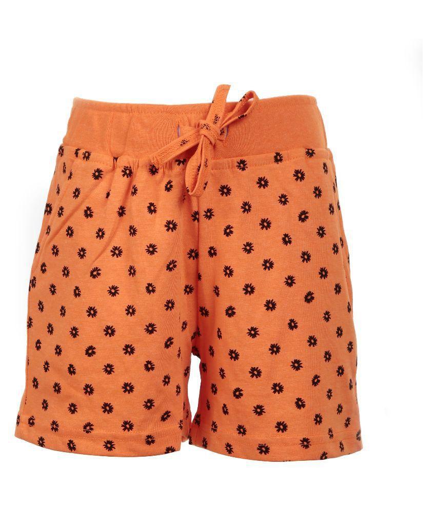 Posh Kids Orange Cotton Bermudas