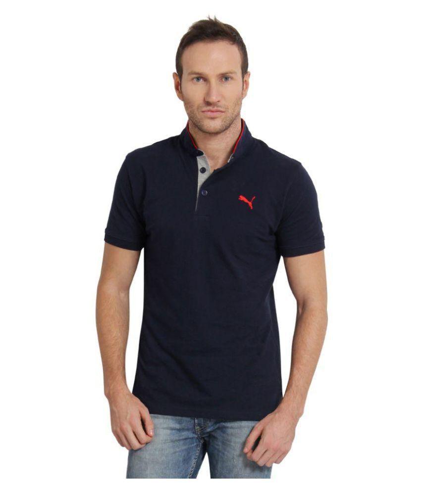 Puma Navy Slim Fit Polo T Shirt