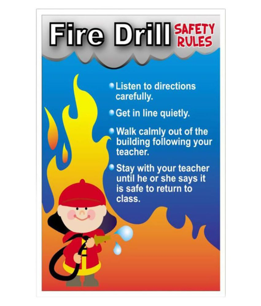 Signageshop high quality flex fire drill safety rules for Best place to buy posters in store