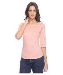 Park Avenue Woman Baby Pink Viscose Regular Tops