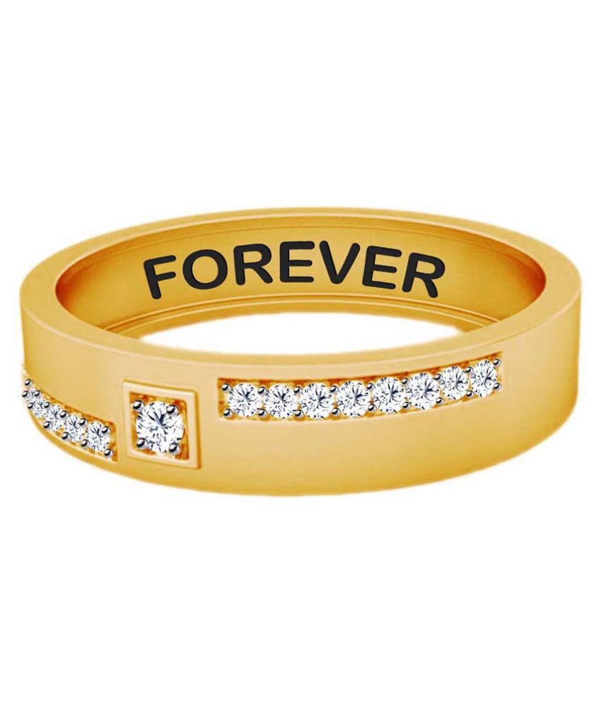 Jacknjewel 18k Yellow Gold Diamond Couple Bands