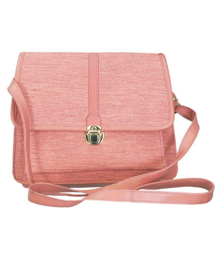 Belladona Pink Faux Leather Sling Bag