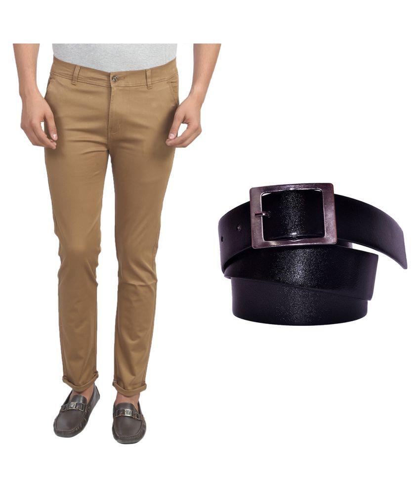 X-Cross Khaki Slim Flat Trouser