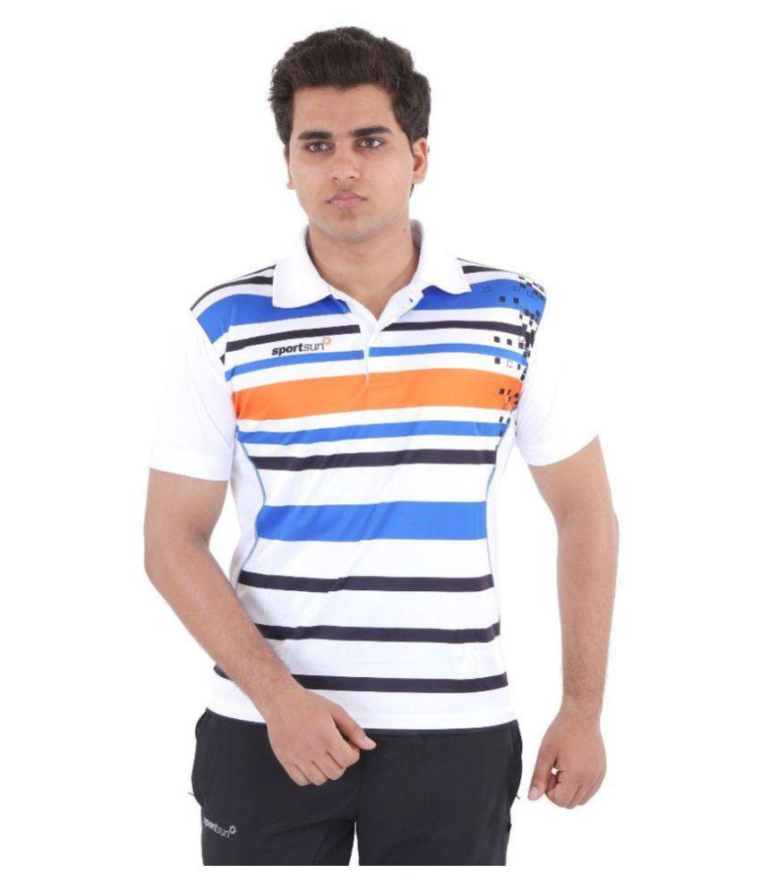 Sport Sun Sportswear Sublimation Print White Polo Tshirt