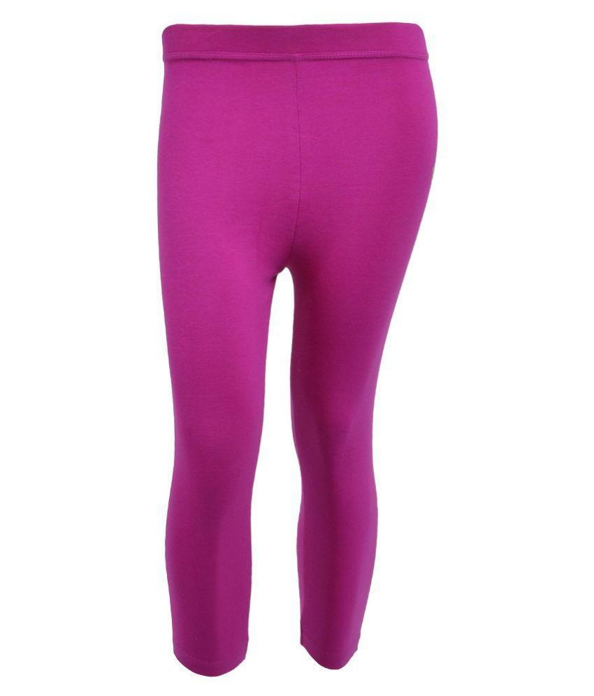 Tanus Purple Cotton Capri