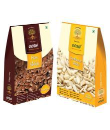 OOSH Flax 250 Gms & Sunflower 200 Gms Regular Sunflower Seeds Natural 450 Gm Pack Of 2