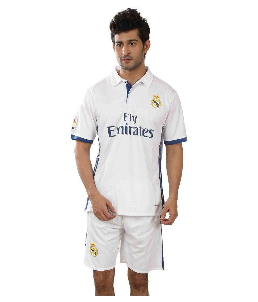 Real Madrid White Polyester Polo T-Shirt Single Pack
