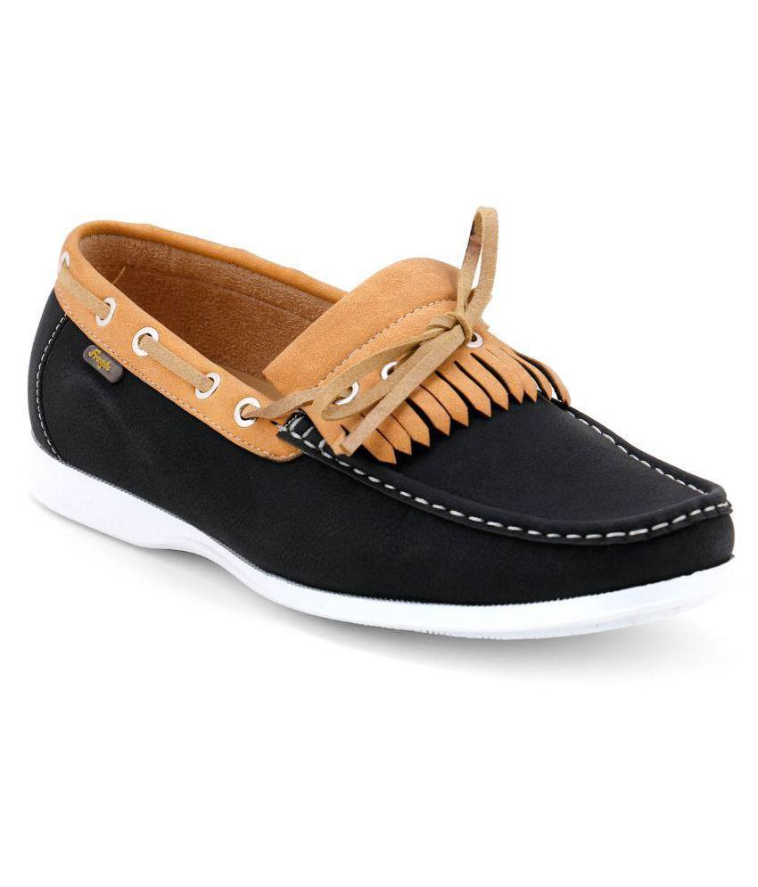 Froskie Black Loafers