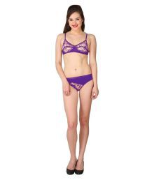 Body Figure Purple Lace Shaping Bra
