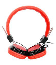 High Coins H-32 On Ear Wired Headphones With Mic Red