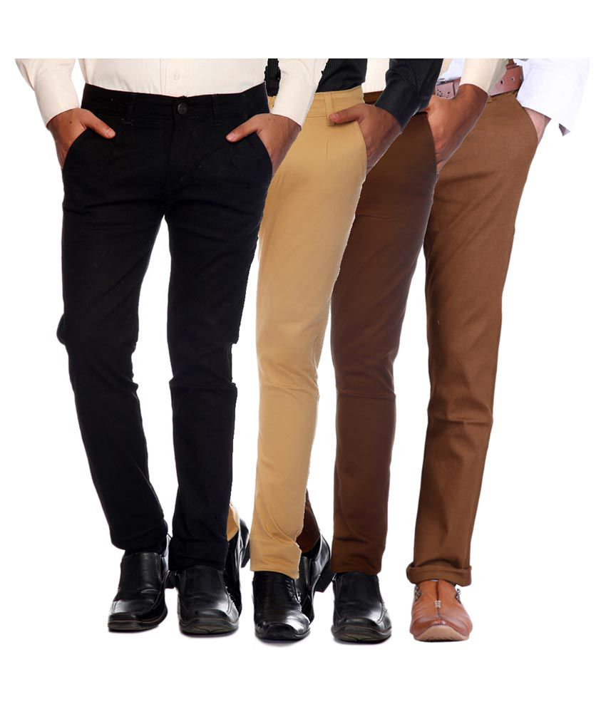 Van Galis Multi Slim Flat Trouser