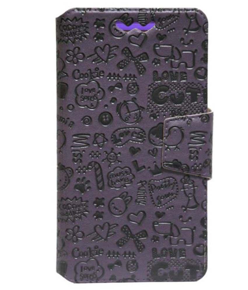 Obi Fox S453 Flip Cover by Jojo - Purple