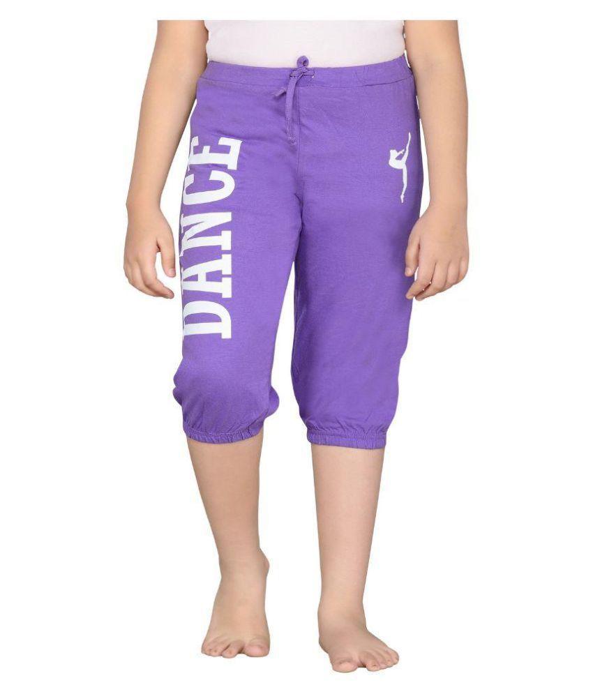 Punkster Purple Capri For Girls